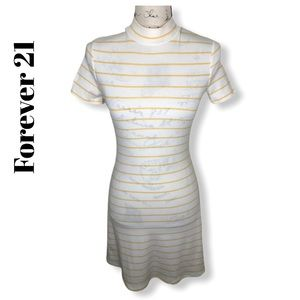 Forever 21 Striped Short Sleeve Dress Size S NWT